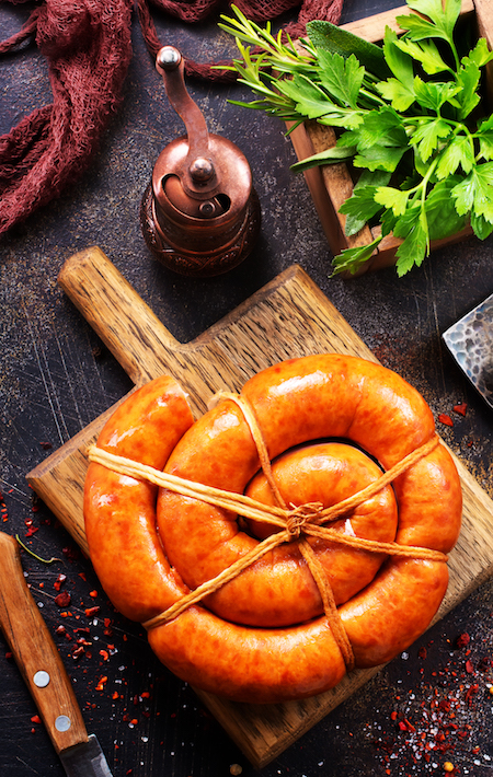 sausages PMRY7P5 - Saucisse BBQ