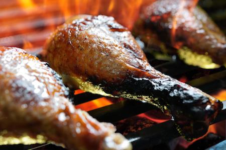 grilled chicken leg P7HRCPM - Pilon de poulet mariné