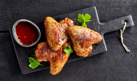 roasted chicken wings PW8T4UF - Aile de poulet marinée