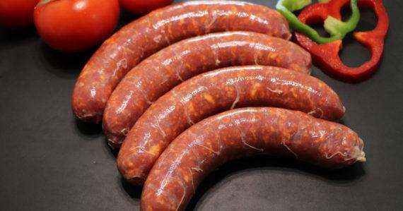 saucisse fraiche au chorizo 570x299 - Saucisse au Chorizo