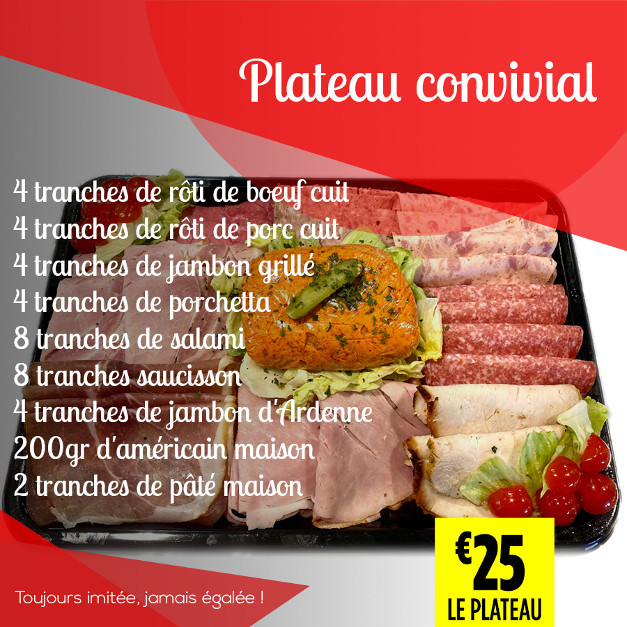 Plateau convivial - Super Grande Boucherie