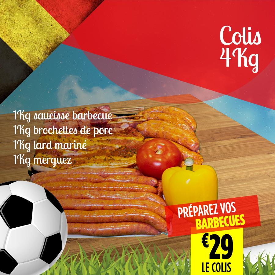 Colis BBQ 4Kg - Super Grande Boucherie