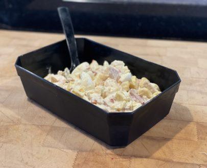 IMG 8644 405x330 - Salade de pomme de terre Piemontaise au jambon (250gr)